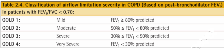 COPD severity assessment