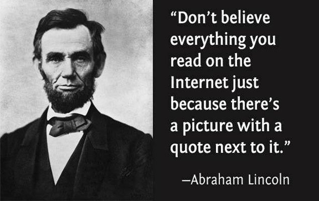 How to Spot Fake News -Famous Lincoln quote