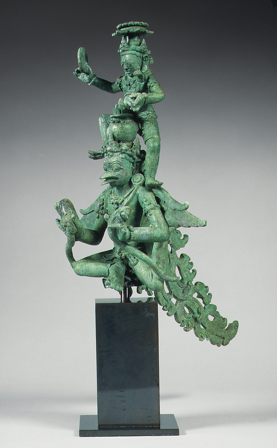 Krishna on Garuda