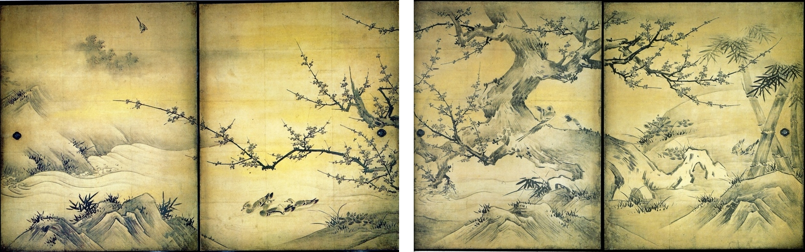 Plum Tree by Kanō Eitoku and his father Kanō Shōei