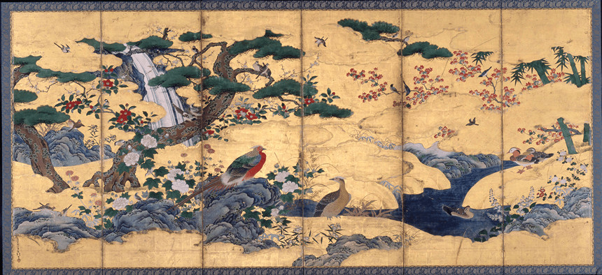 Birds and flowers of the four seasons by  Kanō Motonobu