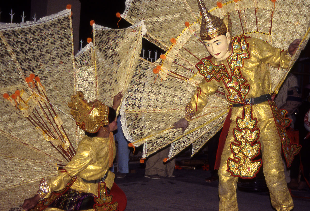 Shan peacock (kinnari and kinnara) dance