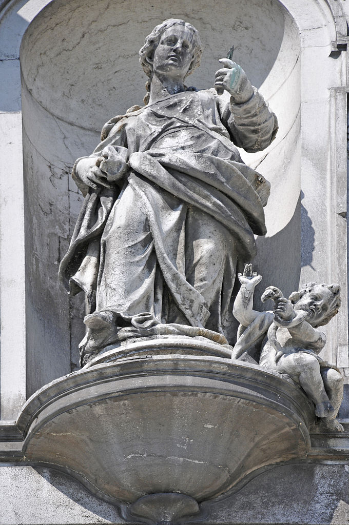 Statue of allegory of Prudence by Gaetano Susali on the church of Santa Maria del Rosario (Venice)