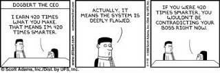 Dilbert and distributive justice