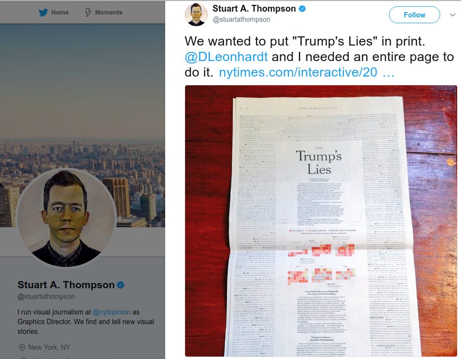 The New York Times vs Trump