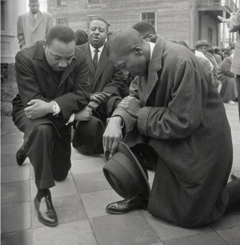 Civil rights leader Martin Luther King Jr. took a knee (in 1965)