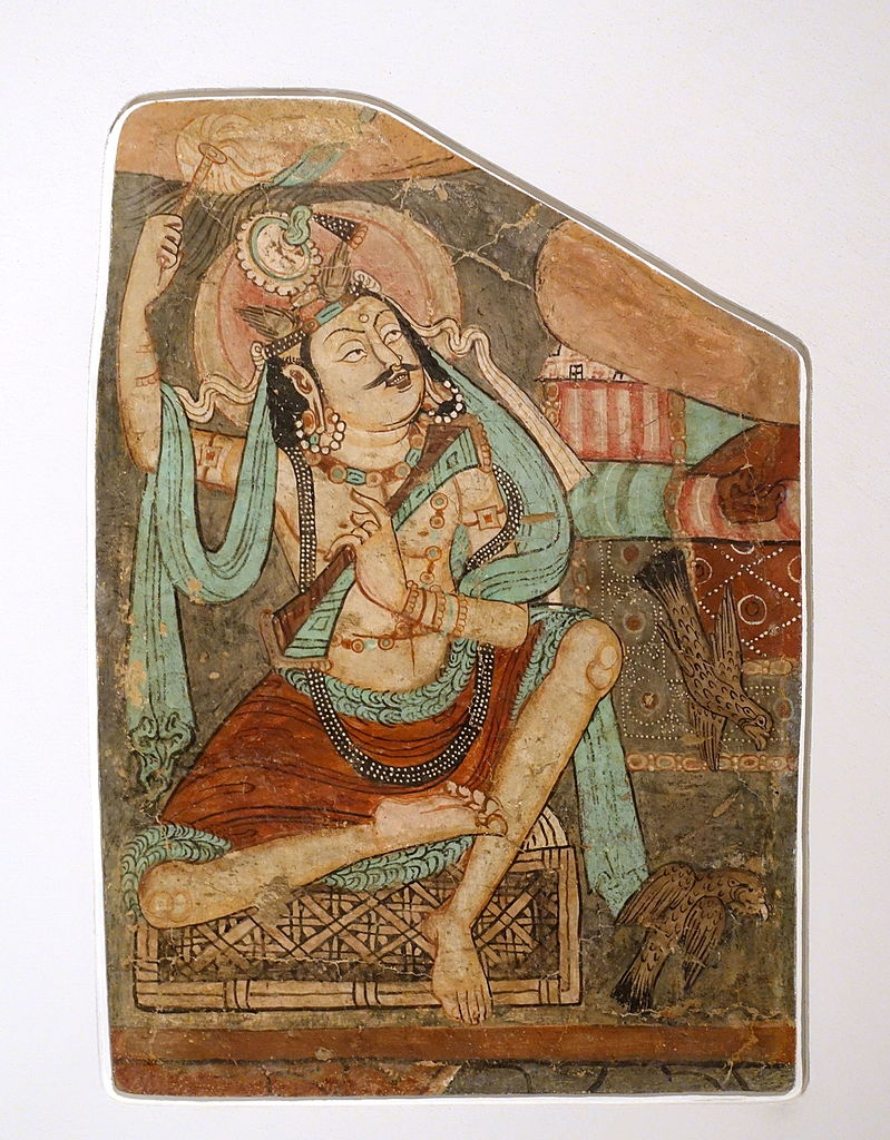 Wall painting of Seated Vajrapani