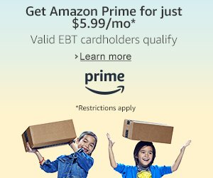 Amazon Prime Discounted Monthly