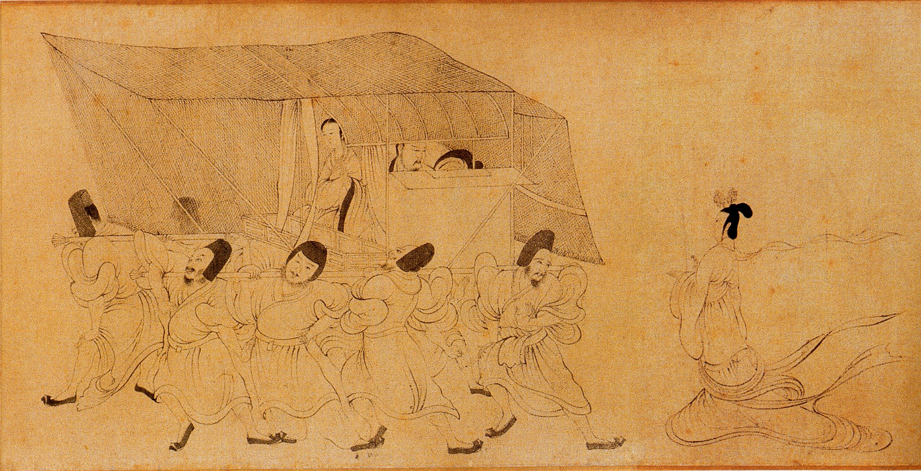 Scene 5 of The Admonitions of the Instructress to the Court Ladies (Song Dynasty version)