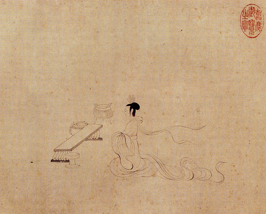 Scene 2 of The Admonitions of the Instructress to the Court Ladies (Song Dynasty version)