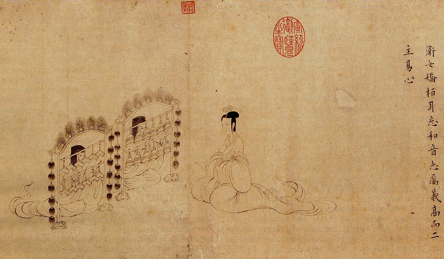 Scene 3 of The Admonitions of the Instructress to the Court Ladies (Song Dynasty version)