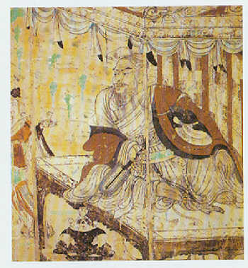 Classic chinese paintings tang dynasty 618 907 wu daozi for Dynasty mural works