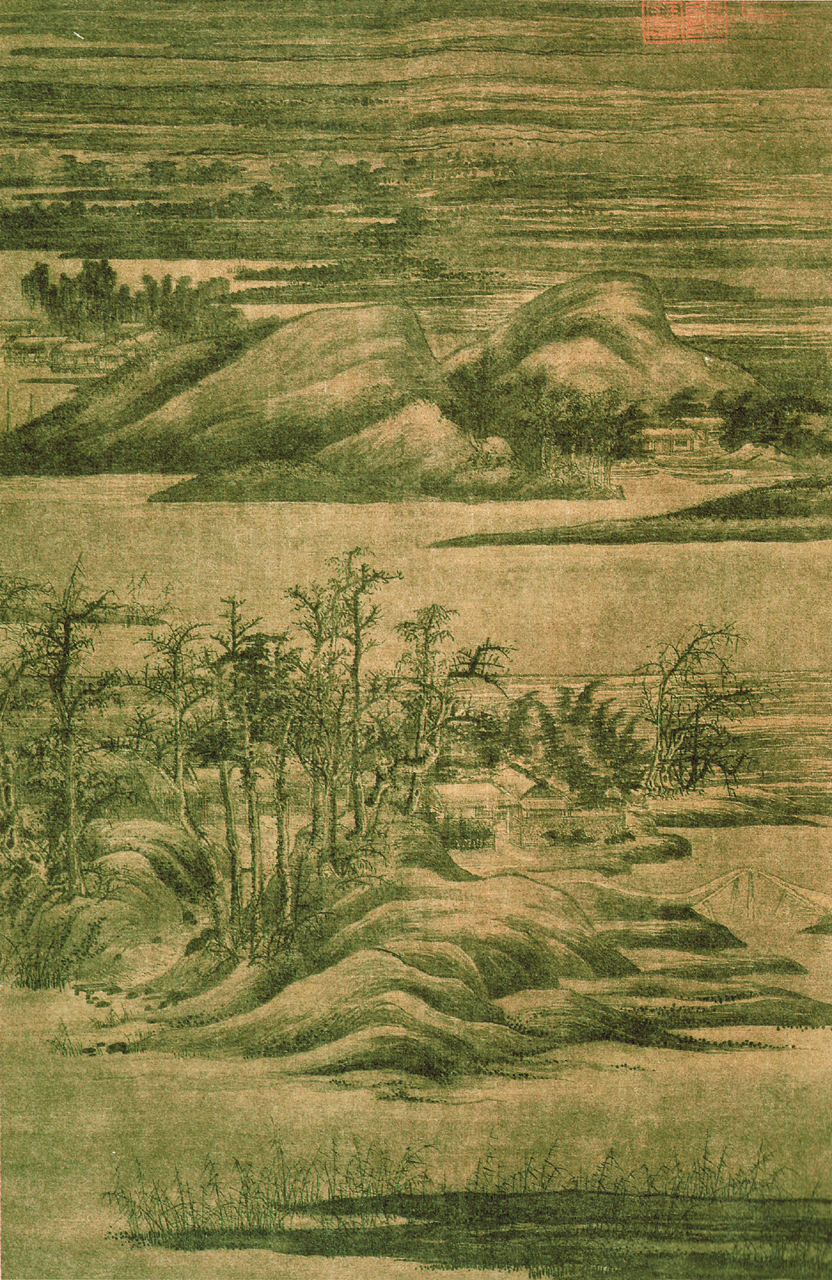 Wintry Groves and Layered Banks (寒林重汀圖)