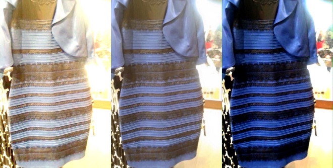 Are dresses white and gold, or blue and black?