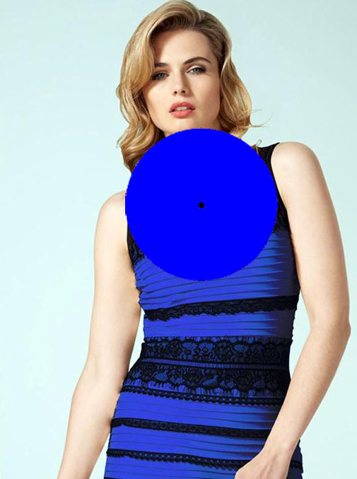 The dress color after-image
