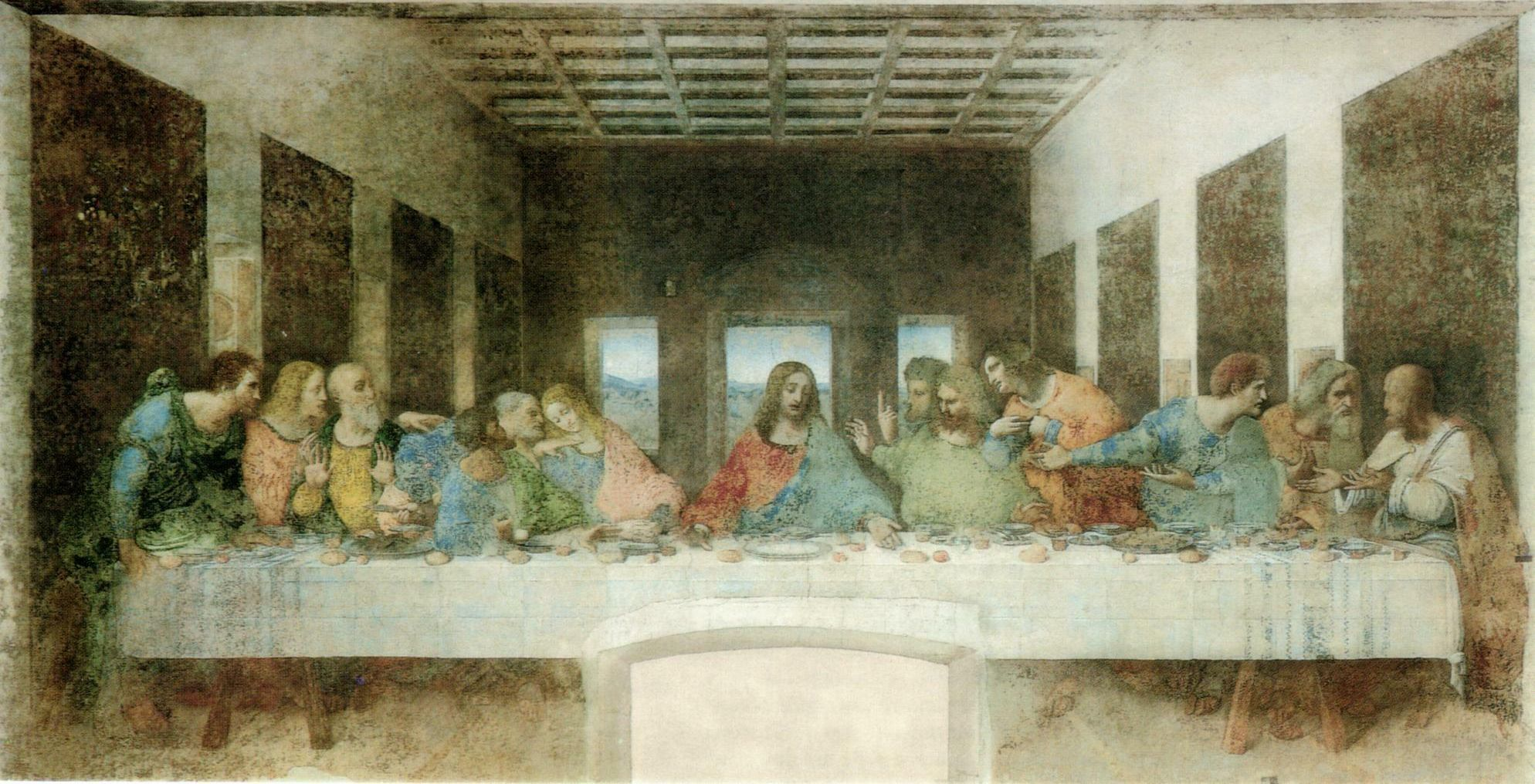 Leonardo da Vinci: The Last Supper, post-restoration version