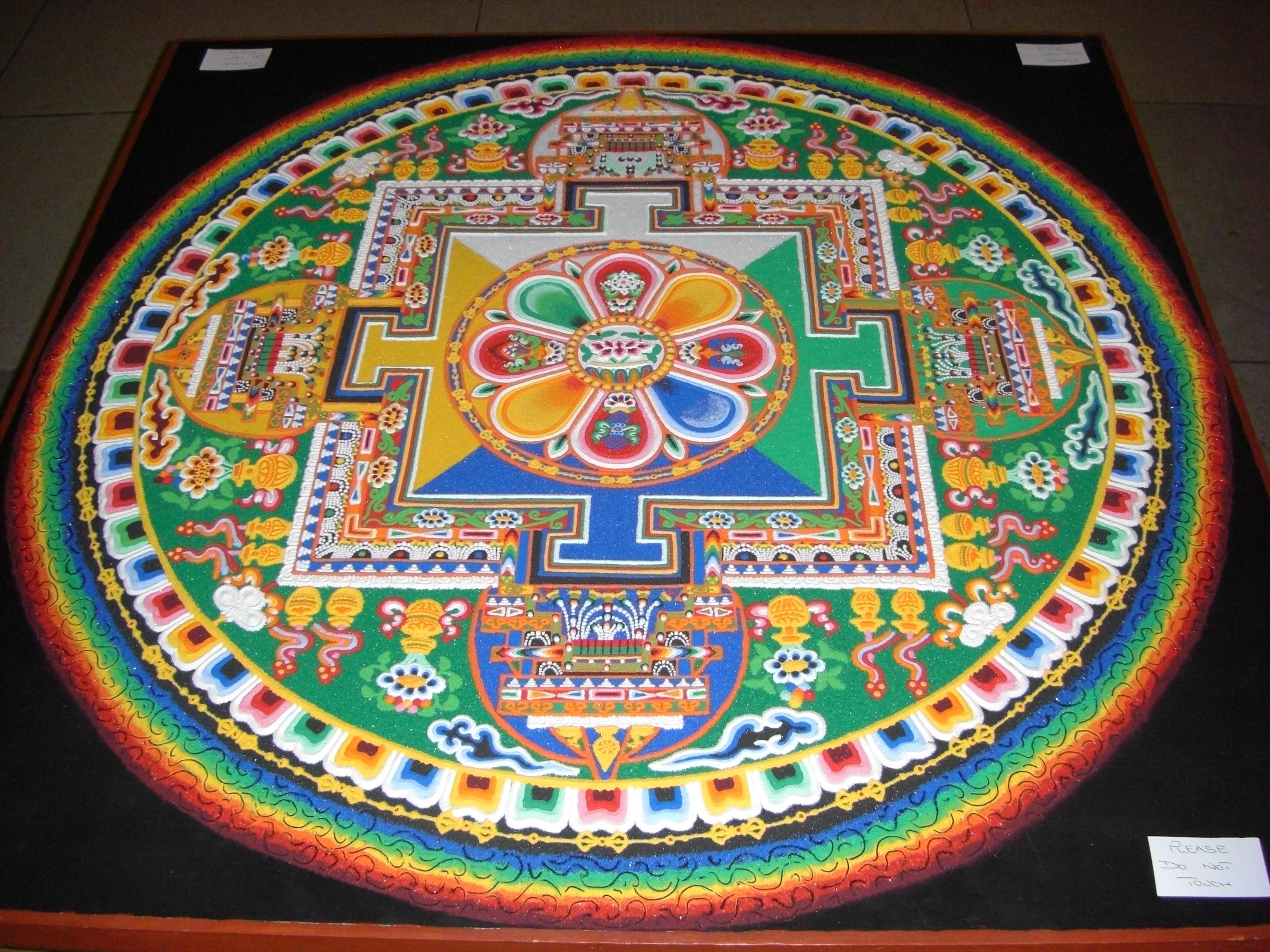 Buddhism chenrezig sand mandala biocorpaavc Images