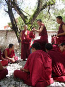 Monks debating at Sera Monastery, Tibet