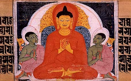 The Buddha teaching the Four Noble Truths