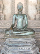 Statue of the Buddha in meditation position