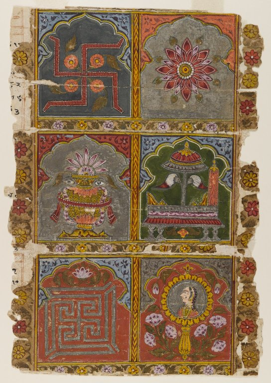 Six out of eight, Ashtamangala, Fragment of a Jain Vijnaptipatra,