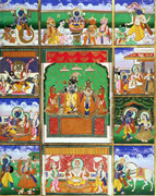 Ten avatars (incarnations) of Visnu