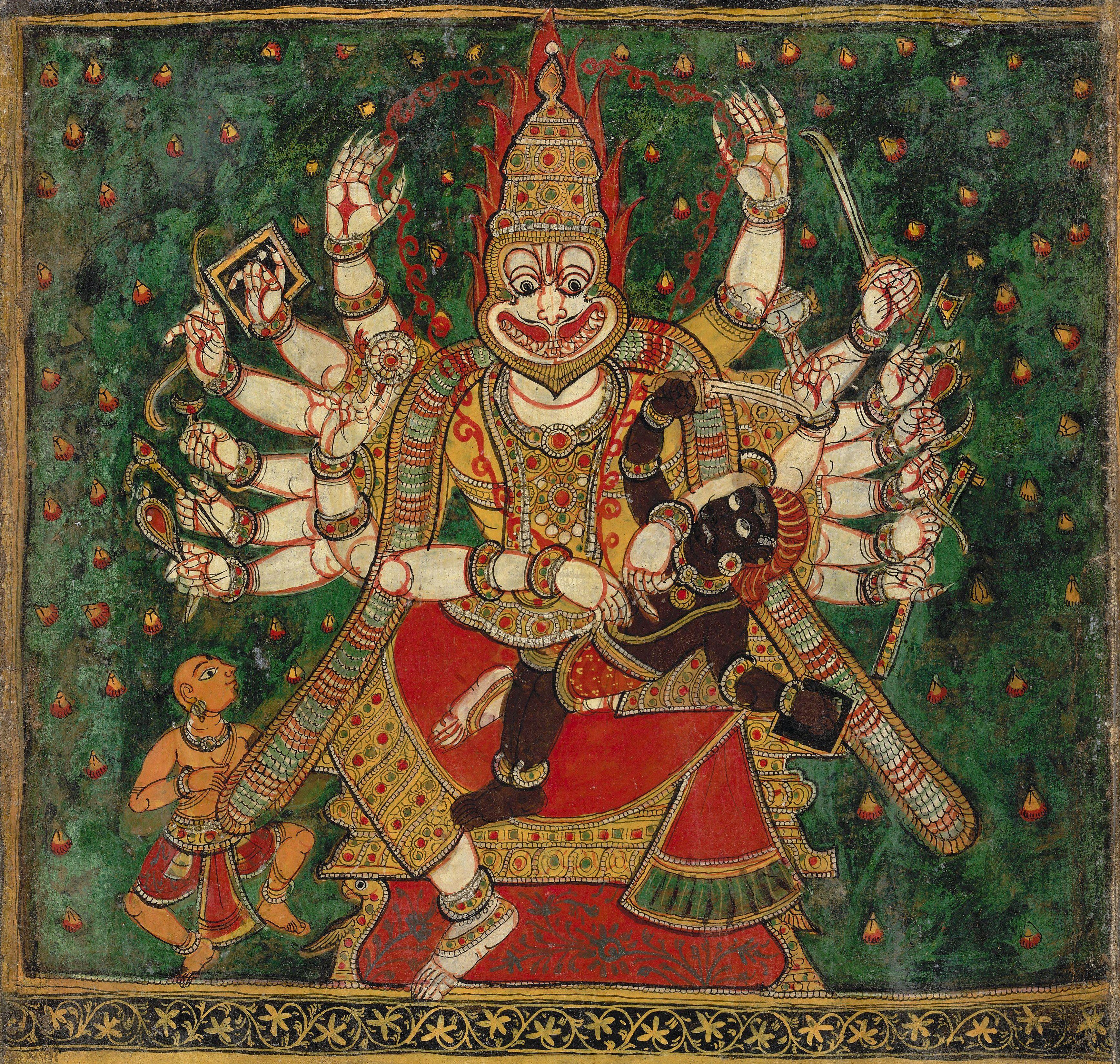 Ten avatars (incarnations) of Visnu