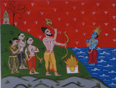 #6c: Lord Parashurama commanding Lord Varuna to make the seas recede