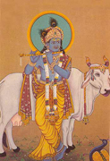 #8b: God Krishna with holy cow