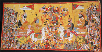 #8d: Arjuna and His Charioteer Krishna Confront Karna