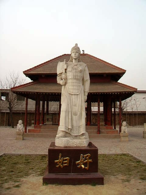 Statue of Fu Hao (婦好) at Yinxu, Henan, China