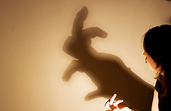 Hand Shadow art: rabbit