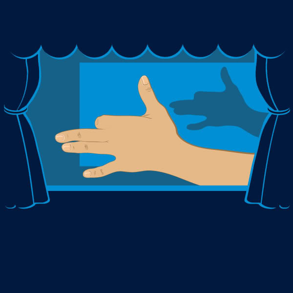 Hand Shadow puppet theater