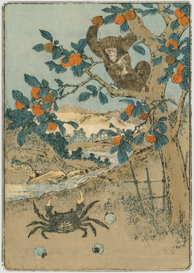 The Quarrel of the Monkey and the Crab (Japanese Fairy Tale)