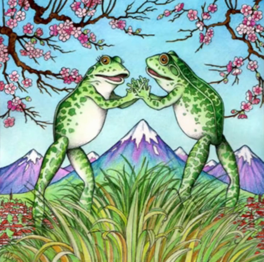 Japanese Folklore- The Two Frogs