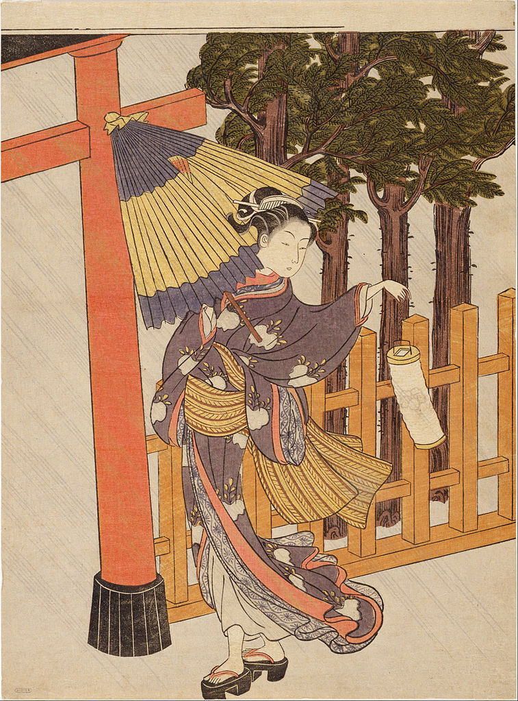 Woman Visiting the Shrine in the Night 雨夜の宮詣