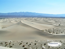 Huge white sand dunes in Death Valley, California