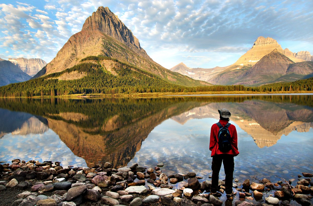 Swiftcurrent Lake at Montana's Glacier National Park