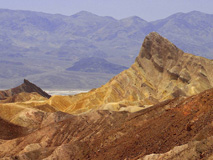 Zabriskie point death valley deserts