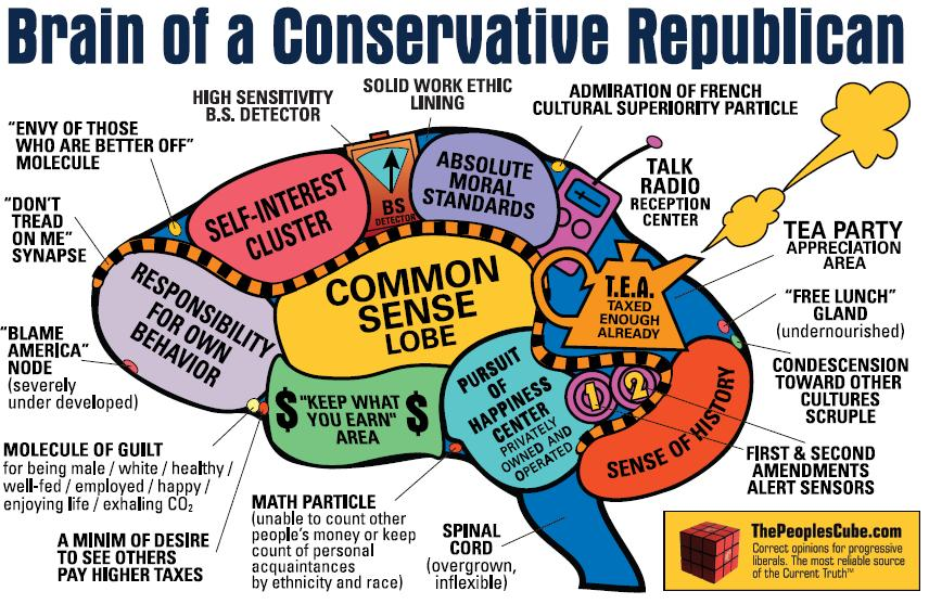 The Brain of a Conservative Republican