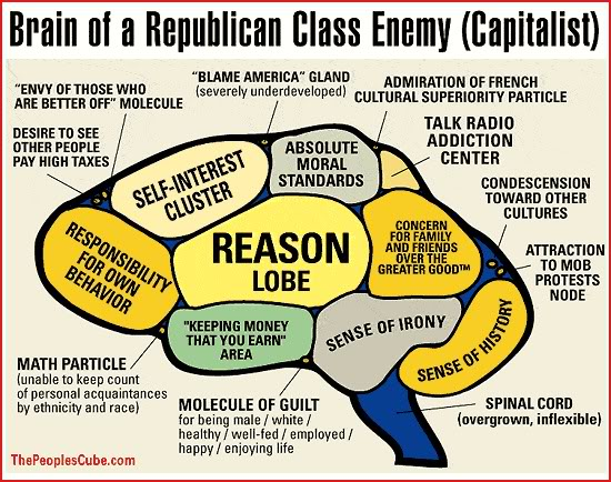 Brain of a Republican class enemy (Capitalist)