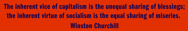 Winston Churchill: capitalism vs socialism
