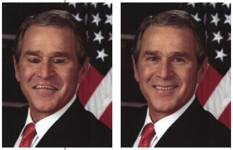 Right Side Up Images of George Bush