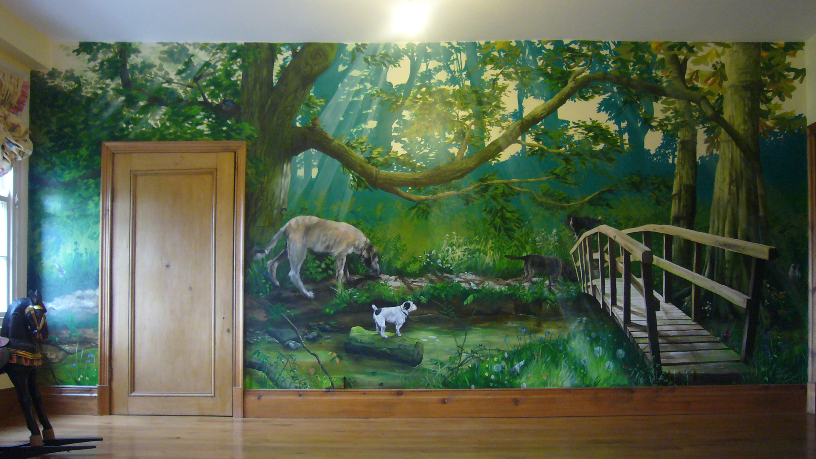 Hand Painted Wall Murals Ideas Home Design