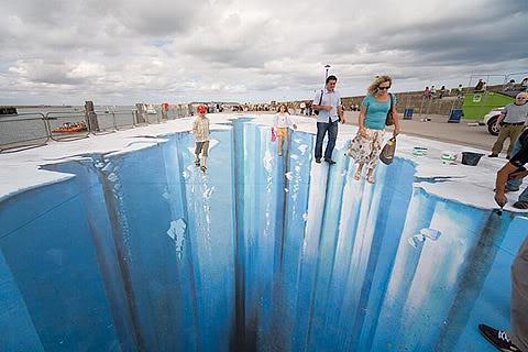 3d street art pavement art