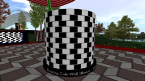 Rotating Cafe wall illusion
