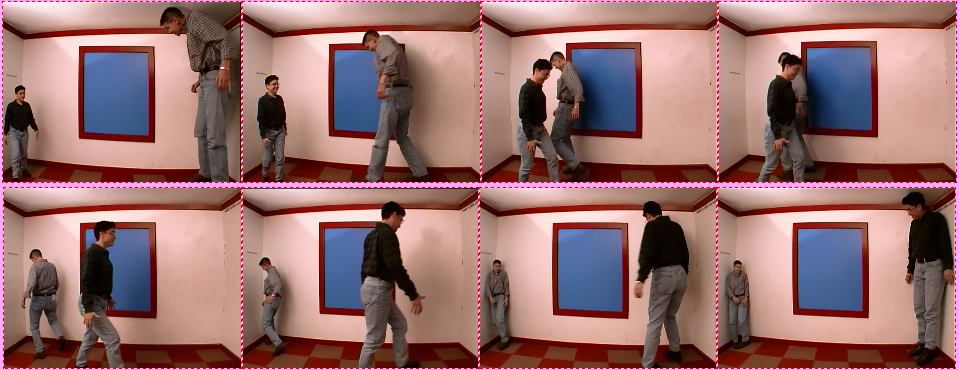 Ames Room perspective illusion