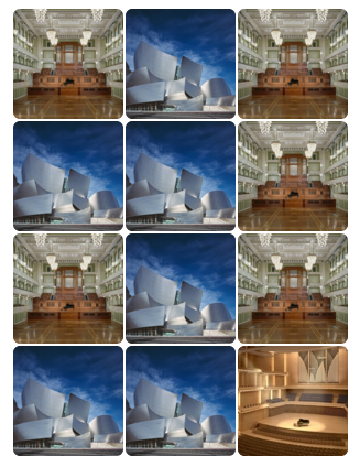 Scintillating Grid illusion in a page of image thumbnails