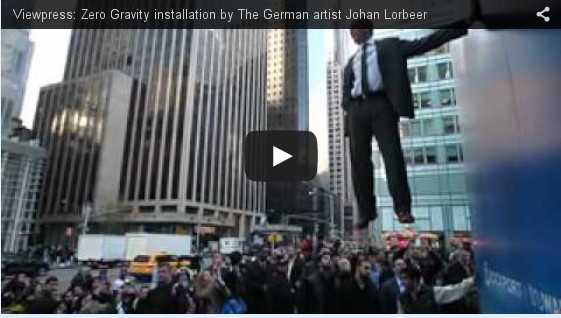 The German artist Johan Lorbeer-Defying Gravity