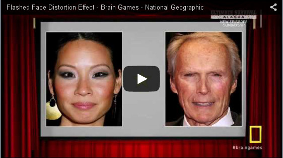 Brain Games--Flashed Face Distortion Effect